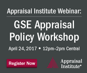 GSE Appraisal Policy Workshop