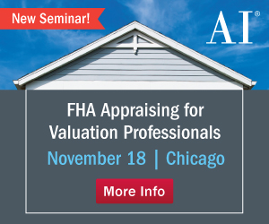 FHA Appraising for Valuation Professionals seminar