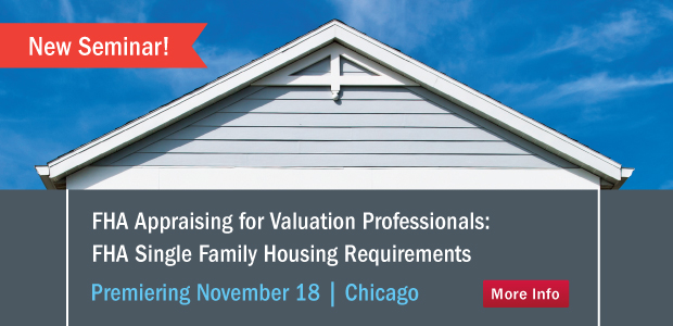 FHA Appraising for Valuation Professionals seminar.