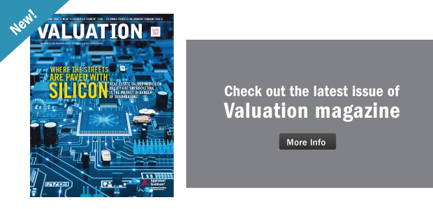Valuation Magazine homepage ad