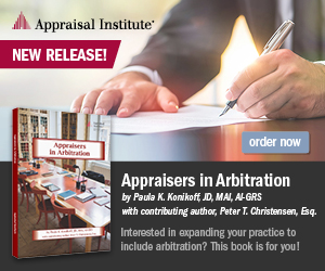 New Book&#33&#59; Appraisers in Arbitration