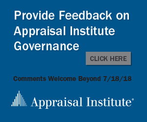 Provide Feedback on Appraisal Institute Governance