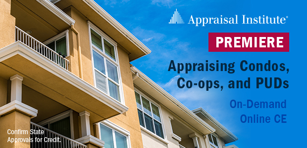 Appraising Condos, Co-ops, and PUDs