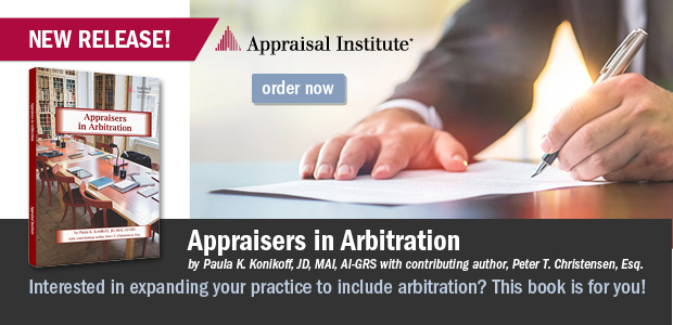 New Book! Appraisers in Arbitration