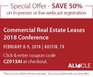 Commercial Real Estate Leases Conference