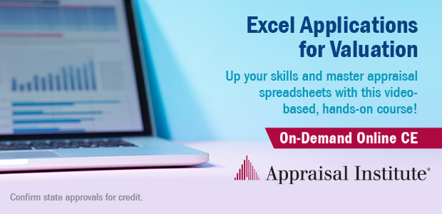 Excel Applications for Valuation OnDemand CE