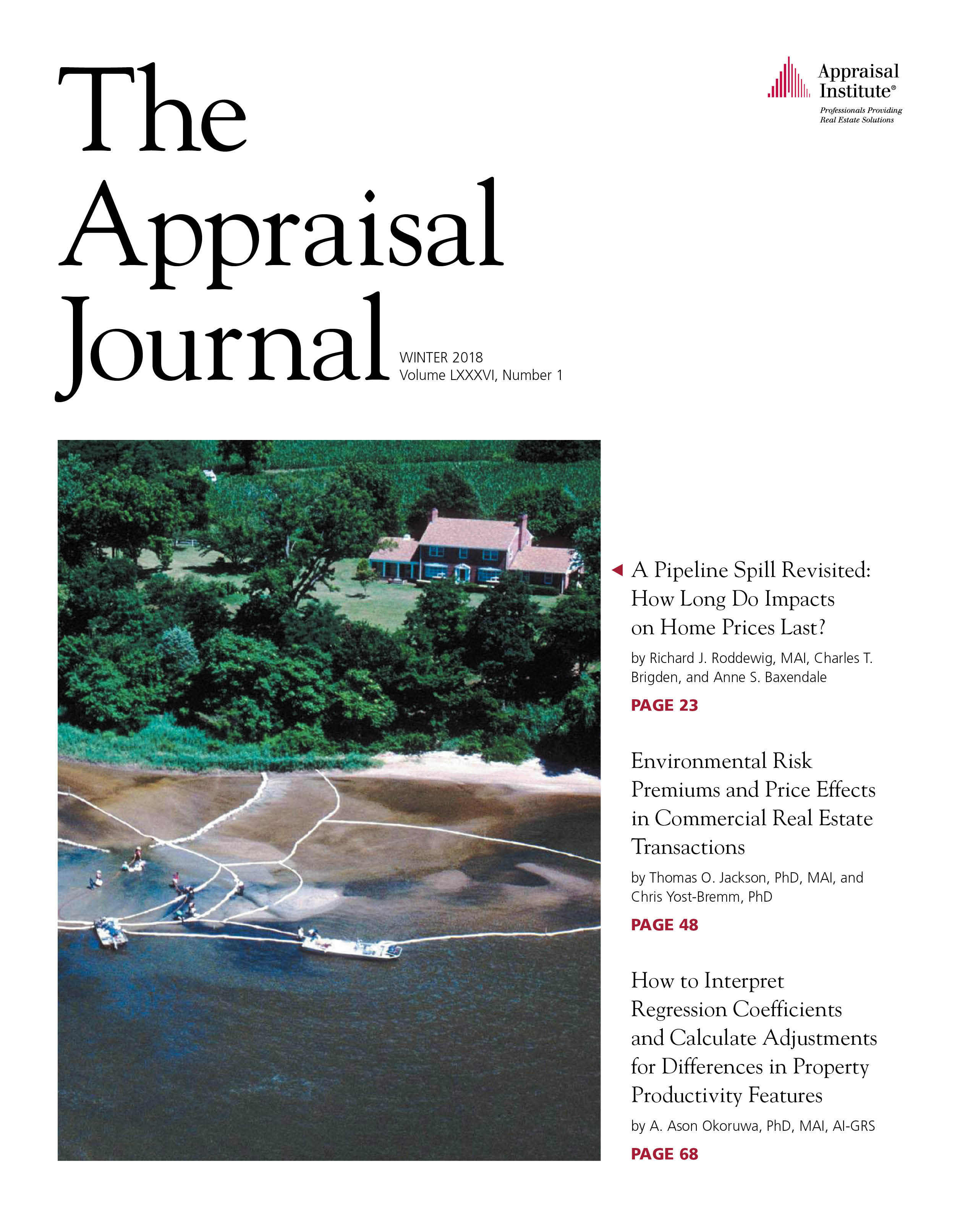 The Appraisal Journal Cover